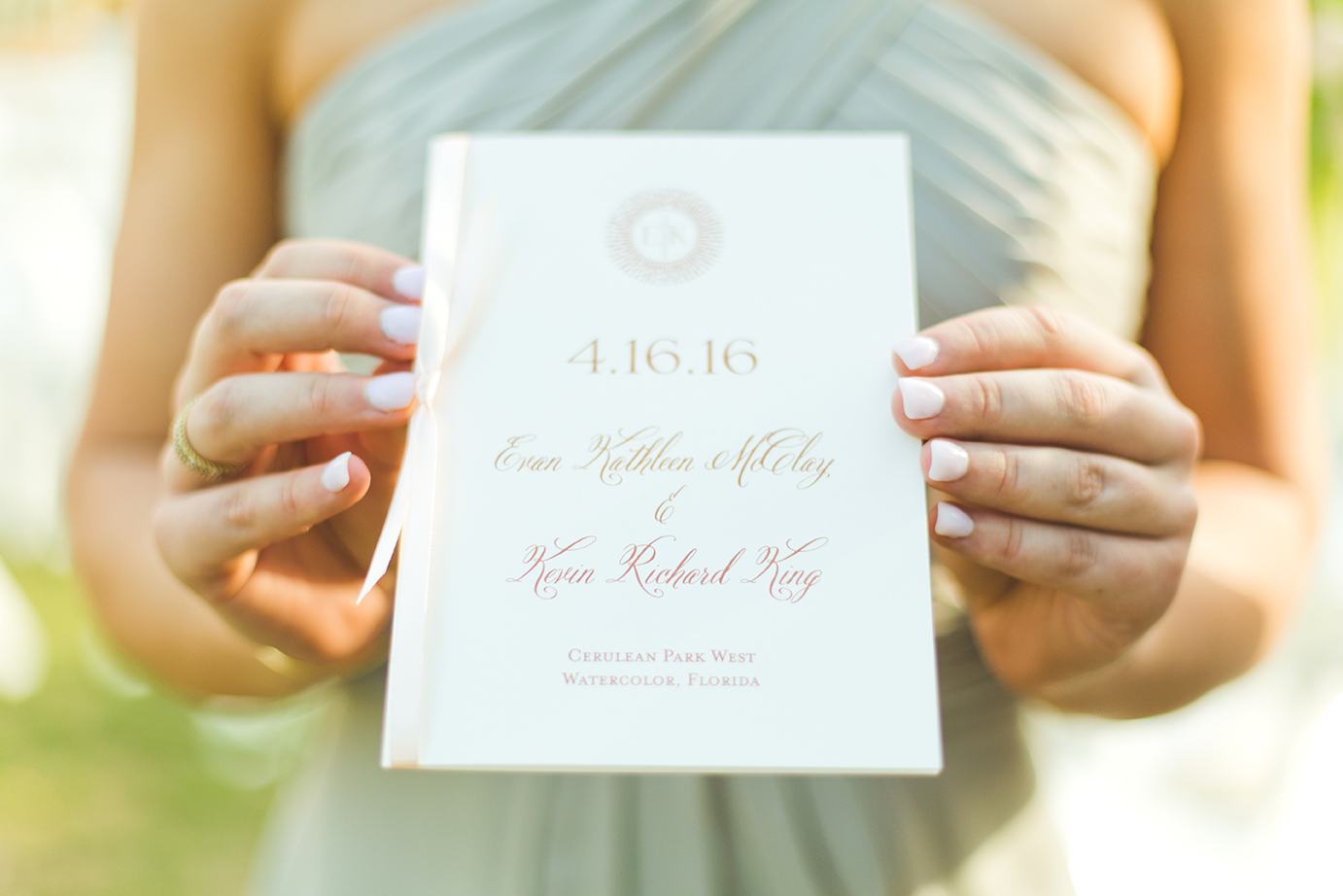Watercolor Florida Wedding